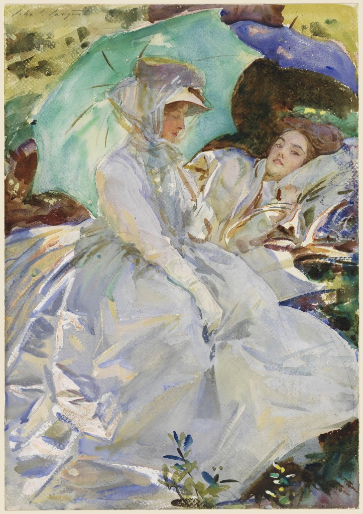 Simplon Pass: Reading John Singer Sargent  about 1911  Watercolor,  *Museum of Fine Arts, Boston. The Hayden Collection—Charles Henry Hayden Fund *Photograph © Museum of Fine Arts, Boston