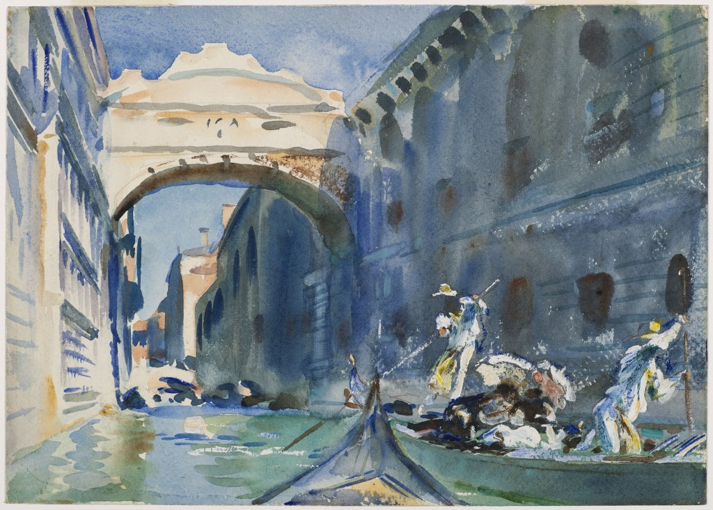 The Bridge of Sighs, John Singer Sargent, about 1903–1904, Watercolor   Purchased by Special Subscription. Courtesy of the Brooklyn Museum Courtesy, Museum of Fine Arts, Boston