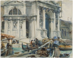 Santa Maria della Salute, John Singer Sargent, 1904, Watercolor  Purchased by Special Subscription. Courtesy of the Brooklyn Museum Courtesy, Museum of Fine Arts, Boston