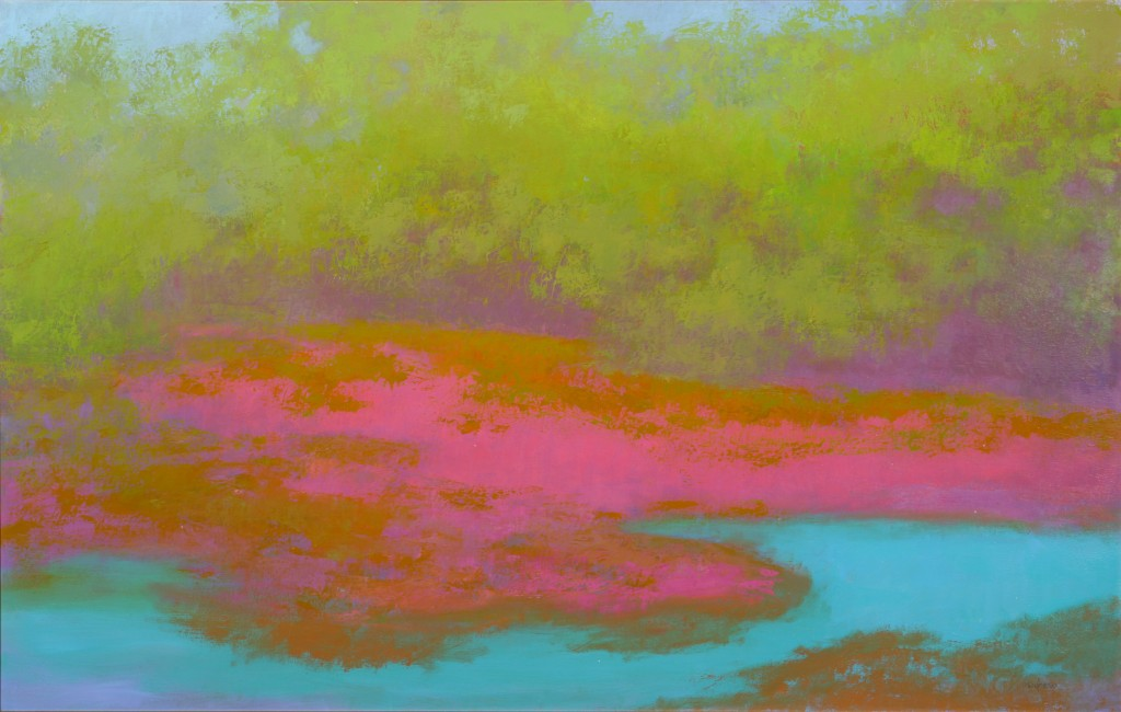 Richard Mayhew. Coyote Creek, 2008. Oil on canvas. Courtesy of the artist and ACA Galleries, New York.