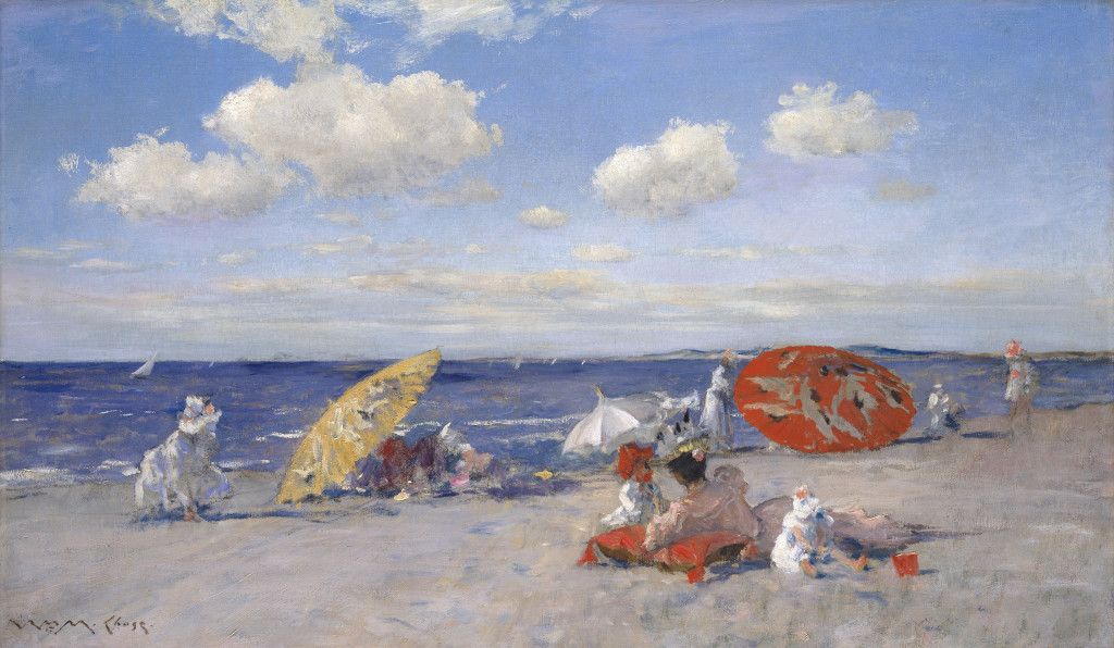 At the Seaside William Merritt Chase (American, 1849–1916) about 1892 Oil on canvas *Lent The Metropolitan Museum of Art, Bequest of Miss Adelaide Milton de Groot (1876–1967), 1967 *Courtesy, Museum of Fine Arts, Boston