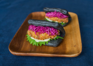 Squid Ink Oyster Bao